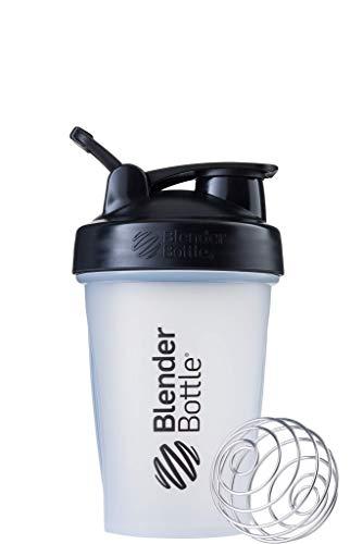 BlenderBottle Classic Shaker   Eiweiß Shaker   Diät Shaker   Protein Shaker mit Blenderball 590ml - Clear Black