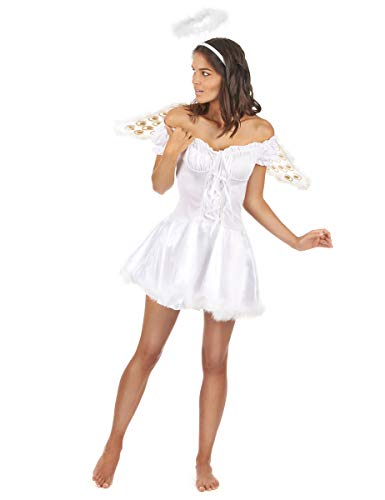 DEGUISE TOI Déguisement Ange Blanc Sexy Femme - Small