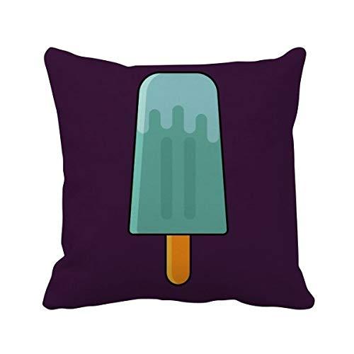 DIYthinker Blue Green Popsicle Douce crème glacée carrée Coussin Oreiller de Insert Cover Accueil Canapé Décor Cadeau 40 X 40Cm Multicolore