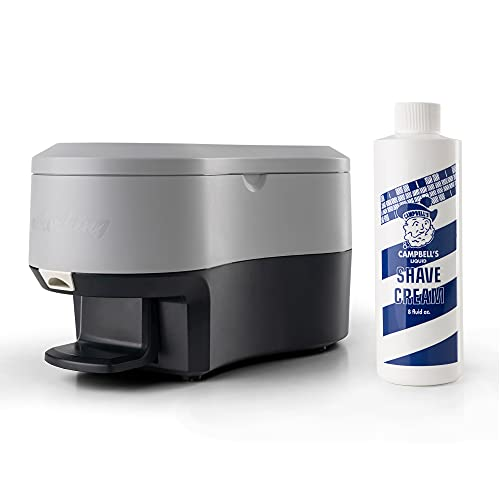Campbell's LatherKing Next Generation Hot Lather Machine, Professional Hot Lather Machines For Shaving, Barber Shop Equipment and Supplies, Includes 12 oz. Campbell's Pre-Mixed Shave Cream Bottle