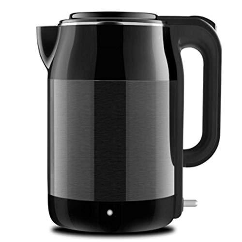 WUAZ 1.7l Edelstahl Innendeckel Wasserkocher 1800w, doppelwandige Isolierung, schnell kochender Heißwasserkessel mit Trockengehschutz