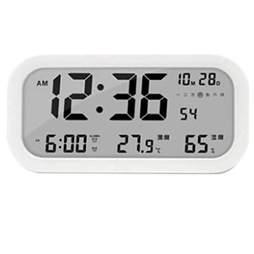 YSMLL LED Digital Svelork Orologio per la retroilluminazione della retroilluminazione della Funzione Data della Funzione Temperatura e umidità Display Snooze Sleep Timer (Color : D)