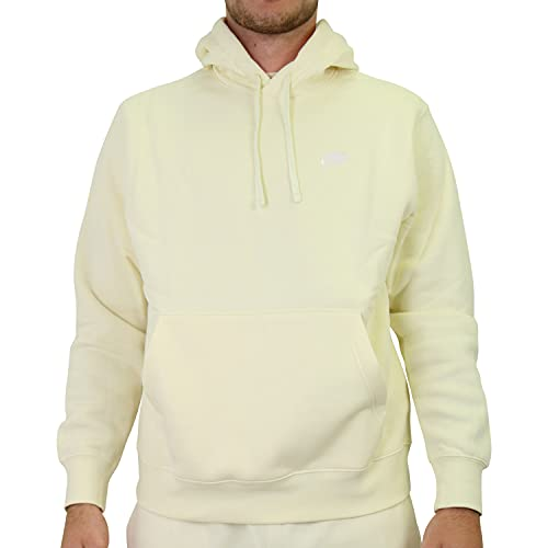 Nike Sudadera de forro polar con capucha para hombre, talla XL, color amarillo