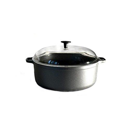 Ronneby Bruk Maestro Kasserolle, rund, 6 Liter, Durchmesser 28 cm, Stahl schwarz