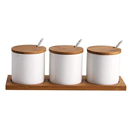 Ceramica Barattoli Portaspezie Scatola Di Condimento Vaso Condimento In Ceramica Per Uso Domestico Tre Pezzi Vaso Per Condimento Set Vaso Per Sale Bia