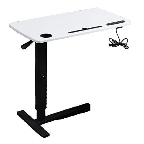 Preisvergleich Produktbild QYT-mobiler Betttisch auf Rollen,  Beistelltisch höhenverstellbar / breitenverstellbar,  Tischplatte neigbar / klappbar,  Bett-Beistelltisch für Krankenbett,  Pflegebett,  Laptoptisch(USB), A