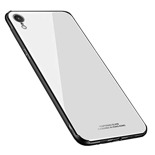 Kepuch Quartz Case Capas TPU &Voltar (Vidro Temperado) para iPhone XR - Branco