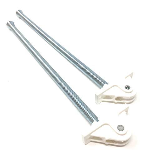 2 x Schnurführung für Rolladen mit oberer Umlenkung und Schnurzug/Feder 250 mm