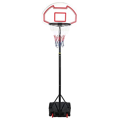 TAKE FANS Aro de Baloncesto, Soporte Ajustable en Altura de aro de Baloncesto extraíble portátil para Actividades en Interiores y Exteriores