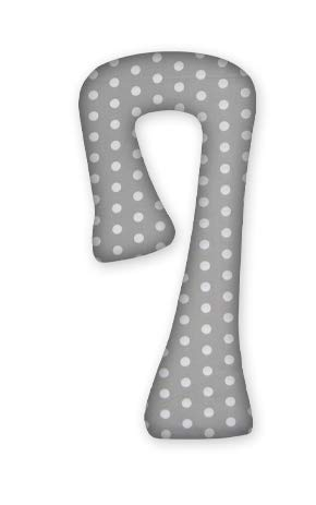 FabiMax Schwangerschaftskissen in 7-Form, ca. 134 x 65 cm, abnehmbarer Bezug, grau/weiße Punkte