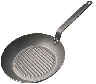 """de Buyer Grill Fry Pan, """"Carbone Plus"""" Steel - 10 Cm"""