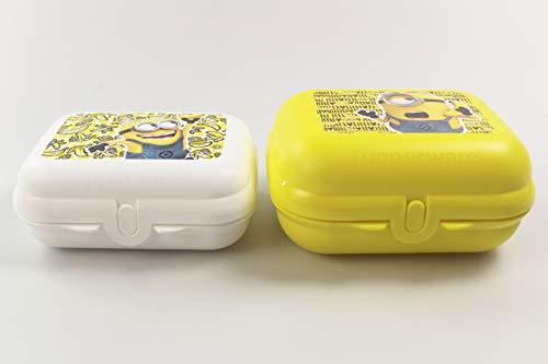 Tupperware to Go Twin Minions Brotdose Größe 3 gelb + Größe 2 weiß 35178