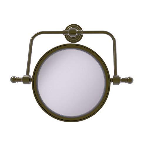 Allied Brass RWM-4/5X Retro Wave Collection Applique Murale pivotante Diamètre 20,3 cm avec grossissement 5X Laiton Antique