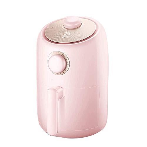 Fríeas de Aire Fryers Profundos Parrillas Interior GridDlastemperatura Tiempo Dual Ajuste, Memoria de Apagado, Operación de la Perilla, Mini Fryer Digital (Color : Pink)