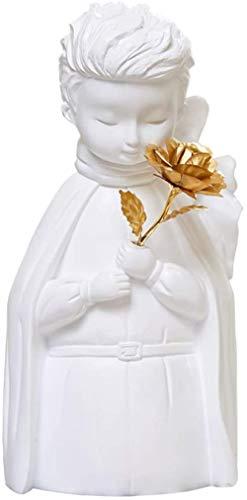 Estatua Escultura Decoración Estatuilla Artesanía Moderna Simple Bar Café Sala De Estar Regalo Accesorios De Adorno De Estatuilla Estilo Nórdico Principito Rosa Figura Cabeza Busto Retrato Hogar