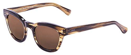 Ocean Sunglasses Santa Cruz Lunettes de Soleil Mixte Adulte, Brown Stained/Brown Lens