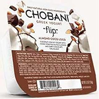 Chobani Flip Almond CoCo Loco Greek Yogurt, 5.3 Ounce -- 3 per case.