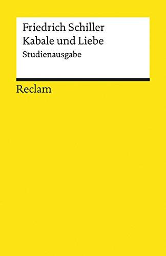 Buchseite und Rezensionen zu 'Kabale und Liebe: Studienausgabe (Reclams Universal-Bibliothek)' von Alexander Košenina