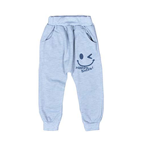 URMAGIC Pantalons Garçons Enfants Bebe Coton Waist Elastique Happy Smile Jogging Bas de survêtement Trousers pour 2-6Ans