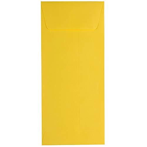 JAM PAPER Sobres de Empresa de Colores #10-104,8 x 241,3 mm - Amarillo Reciclado - Paquete de 50