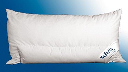Walburga Kopfkissen, Kissen Wellness Batist / Microsoft Fill weich mit Nackenstütze 40 x 80 cm