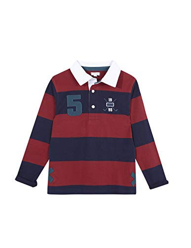 Gocco Polo Rayas Rojo Y Gris Undershirt, Granate, 44020 para Niños