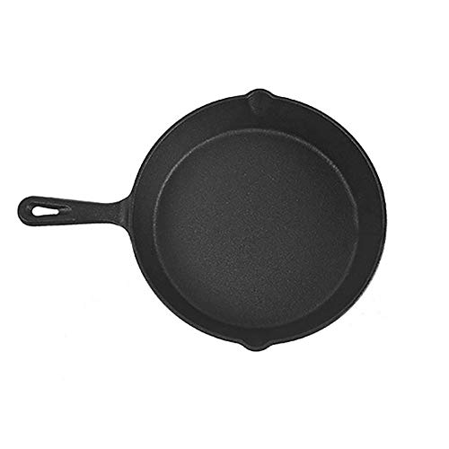 Pan Inductie Saute Pan Handle Wokken Stir Fry pannen Oven Safe gietijzerpot Gietijzer fysieke non-stick pan for koken Bak Groenten, Steaks 16cm / 20cm / 26cm HAOSHUAI (Size : 16cm)