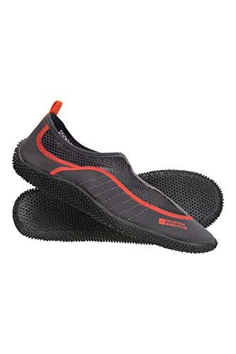 Mountain Warehouse Chaussures Aquatiques Homme Bermuda - Faciles à Enfiler, légères, néoprène, Panneau en Mailles - Protection pour Aventures sous-Marines Orange 44