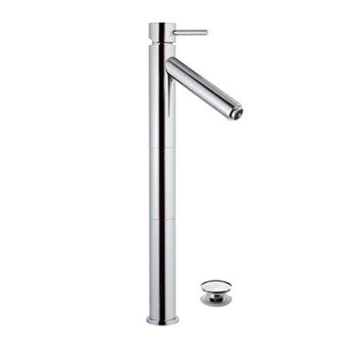 Remer - Rubinetto lavabo con Luce a LED Altezza Bocca mm 235 - Serie Minimal Color - Click - Clack