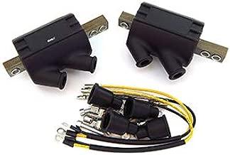 Set of 2 Magna Dual Output Coils - 3 ohms - Compatible with Kawasaki KZ400/440/550/650/750/900 Ninja ZX10