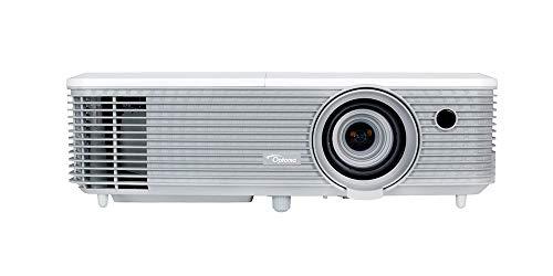 Optoma EH400+ DLP-Projektor (1080p, 4000 Lumen, 22.000:1 Kontrast, 2x HDMI+MHL, 2x VGA, 1x Composite) Weiß
