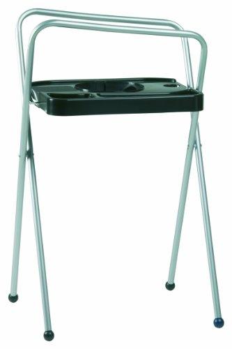 Bébé-jou Support de Bain en Aluminium pour Baignoire Noir Hauteur 98 cm