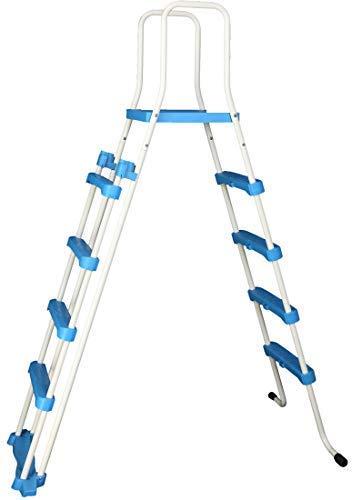 Well2wellness Escalerilla para Piscina Pool Escalera de Seguridad - 4-velocidad con Plataforma 185/132 cm (024293)
