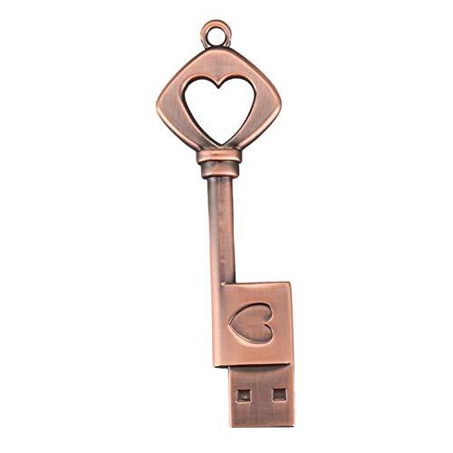 Fransande - Memoria USB 2.0 de metal USB portátil, disco U de cobre, unidad flash USB de cobre (cobre, 8 GB)
