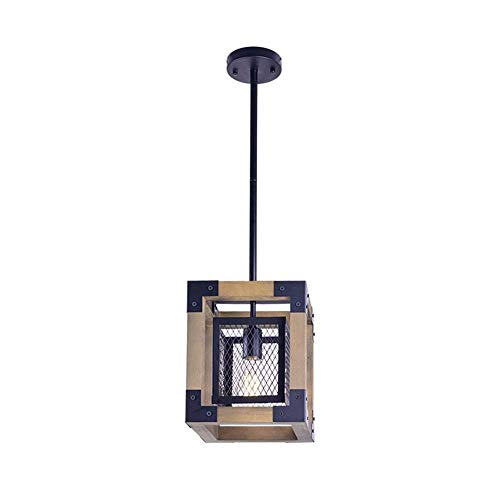 TIANYOU Lámparas de Madera Retro Araña de Madera de Loft de Viento Industrial Lámparas de Madera Creativas Restaurante Iluminación de Sala de Estar Sencillez moderna