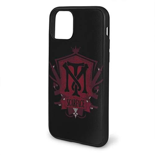 Compatibile con iPhone 12/12 PRO Max 12 Mini 11 PRO Max SE X XS Max XR 8 7 6 6s Plus Custodie Scarface Nero Custodie per Telefoni Cover