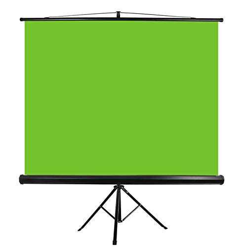 Emart 107″ Green Screen Stand, Professional Chromakey Background with Auto-Locking Frame, Collapsible Protable Wrinkle Free Screen with Adjustable Tripod, Fast Fold Designed for Game, Stream, Video