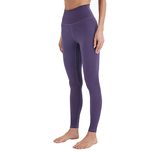 Mipaws Sport Damen Leggings High Waist Full-Length Yoga Hose Blickdicht Fitnesshose(36/XS, Blue Violet)
