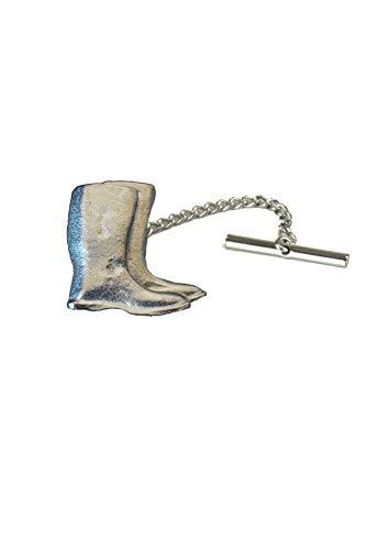 Giftsforall FT112 Krawattennadel mit Gummistiefel, mit Kette, aus englischem Zinn, 3 x 4 cm