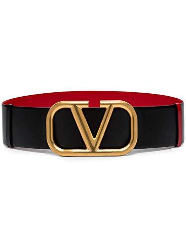 Luxury Fashion | Valentino Dames TW2T0S10ZFR0SM Zwart Leer Riemen | Lente-zomer 20