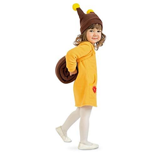 NET TOYS Niedliches Kinder Schneckenkostüm - Gelb-Braun 116, 5 - 6 Jahre - Tierisches Mädchen-Outfit Tierkostüm Schnecke mit Fühlern - EIN Highlight für Kinder-Fasching & Kinderfest