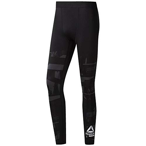 Reebok Ost Comp Tight AOP Mallas, Hombre, colgr, XL