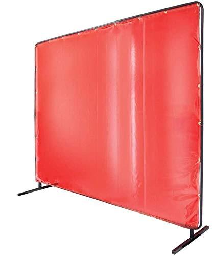 Revco Black Stallion 6' x 6' Orange Welding Curtain/Screen with Frame - 14 mil
