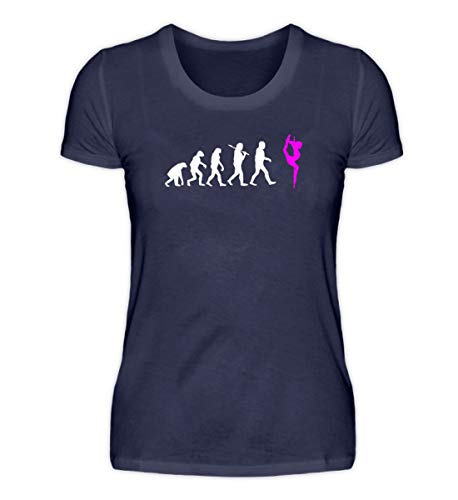 Evolution Pole Dance Bekleidung T Shirt Pole-Dance Shirt Tanz-Stange Damen Herren - Damenshirt -S-Dunkel-Blau