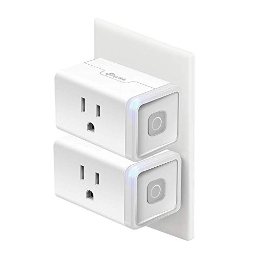 Kasa Smart Plug, WiFi Outlet works with Alexa, Echo and Google Home, No Hub Required, Remote Control, 12 Amp, UL Certified, 2-Pack (HS103P2)