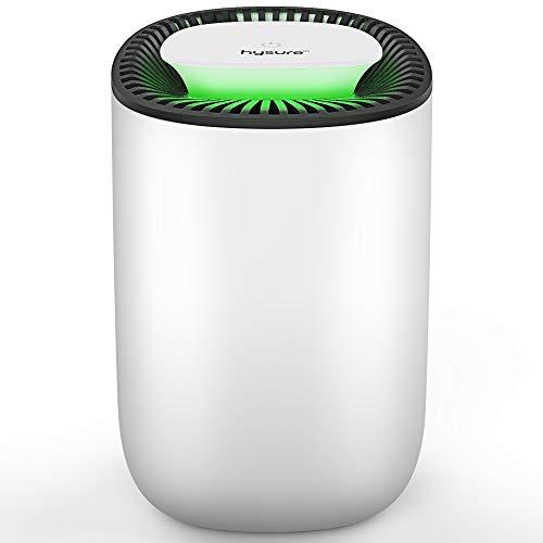 Deshumidificador compacto y portátil, 600 ml, deshumidificador silencioso, deshumidificador en la cocina en el dormitorio, oficina y garaje en casa, contra la humedad, la suciedad y el moho
