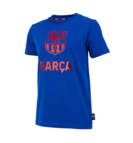 Fc Barcelone Camiseta de algodón Barca - Colección Oficial Talla niño 6 años