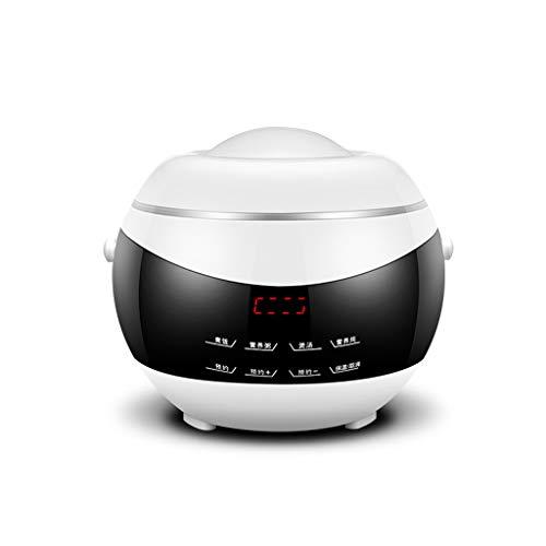 Cuiseur à riz multifonctions Mini plein écran tactile antiadhésif - 2 litres (Couleur : Blanc)