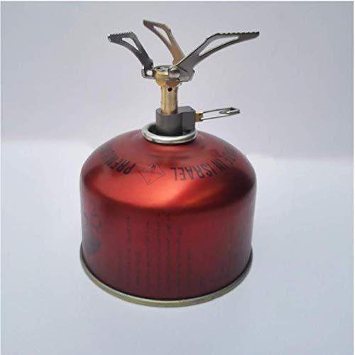 Estufa Mini camping gas ligero plegable de bolsillo Estufa Estufa de Split Tanque de gas del quemador adaptador de camping al aire libre Horno de gas