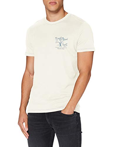 JACK & JONES Herren JORMANNY Tee SS Crew Neck Shirt, Whisper White/Fit:REG, M